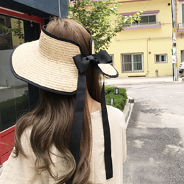 ribbon sun cap