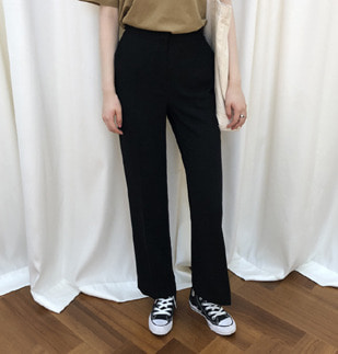 black straight slacks (pt)